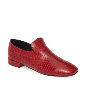 Jeffrey Campbell Red Lizard Loafer NWOB 6.5